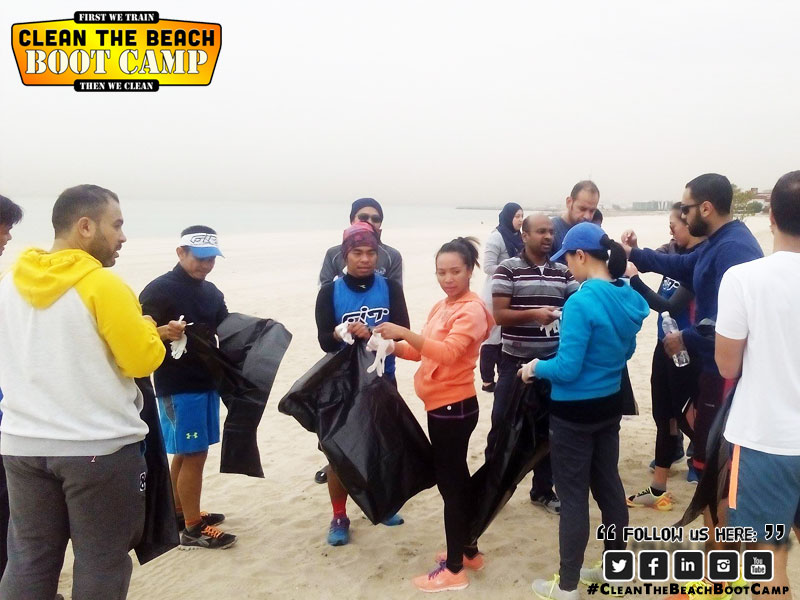Boot Camp Kuwait & Cleaning the Beach