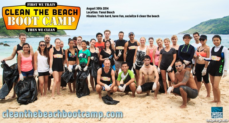 Group-bags Clean the Beach Boot Camp