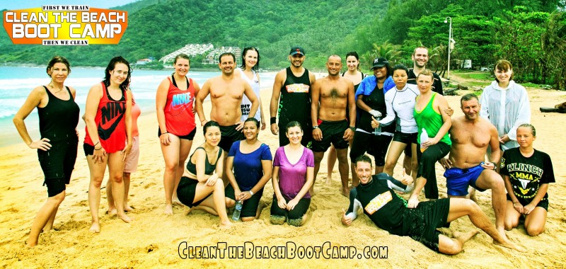 Group-Shot-7 Clean the Beach Boot Camp