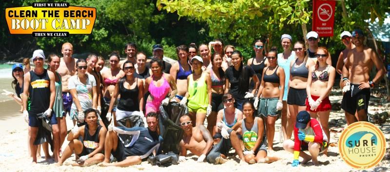 Group-Shot-Kata Clean the Beach Boot Camp