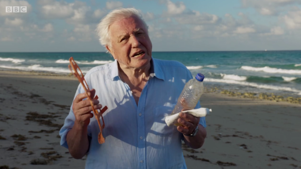 David Attenborough Fights Against Plastic Pollution